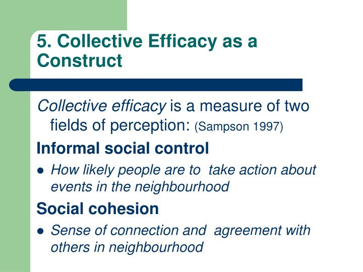 5. Collective Efficacy as a Construct
