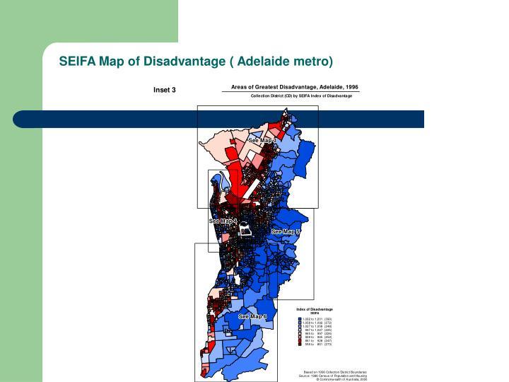 SEIFA Map of Disadvantage ( Adelaide metro)