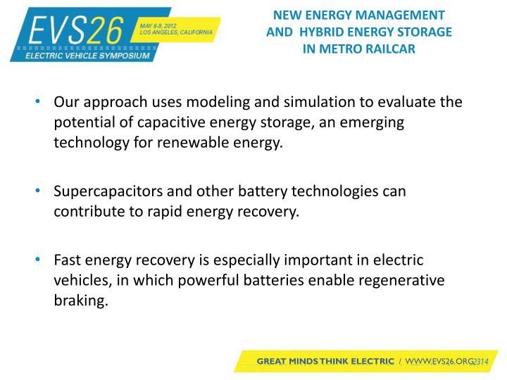 New energy management and hybrid energy storage in metro railcar1