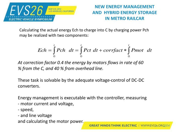 NEW ENERGY MANAGEMENT