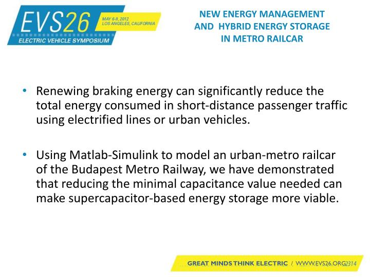 New energy management and hybrid energy storage in metro railcar2
