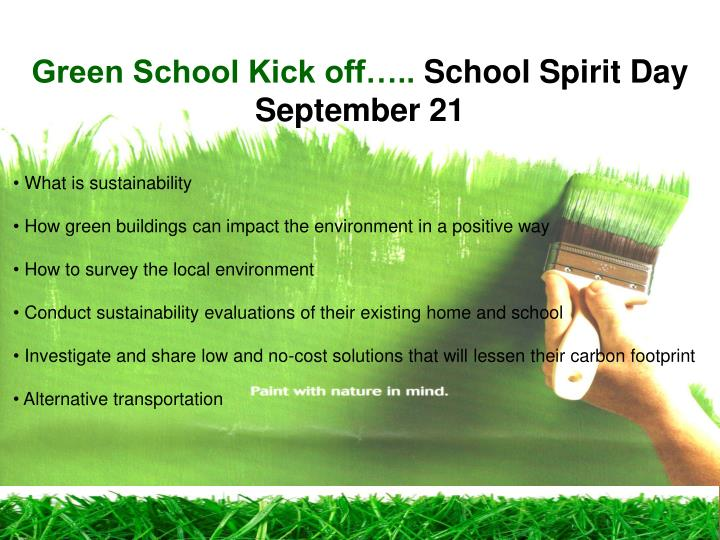 Green School Kick off…..