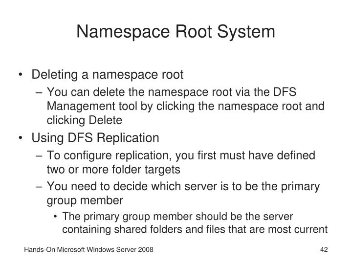 Namespace Root System