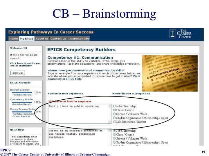 CB – Brainstorming