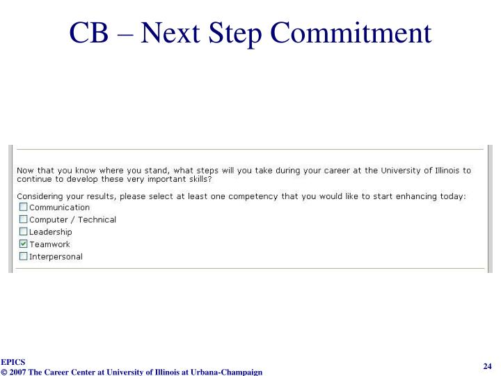 CB – Next Step Commitment