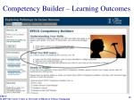 competency builder learning outcomes