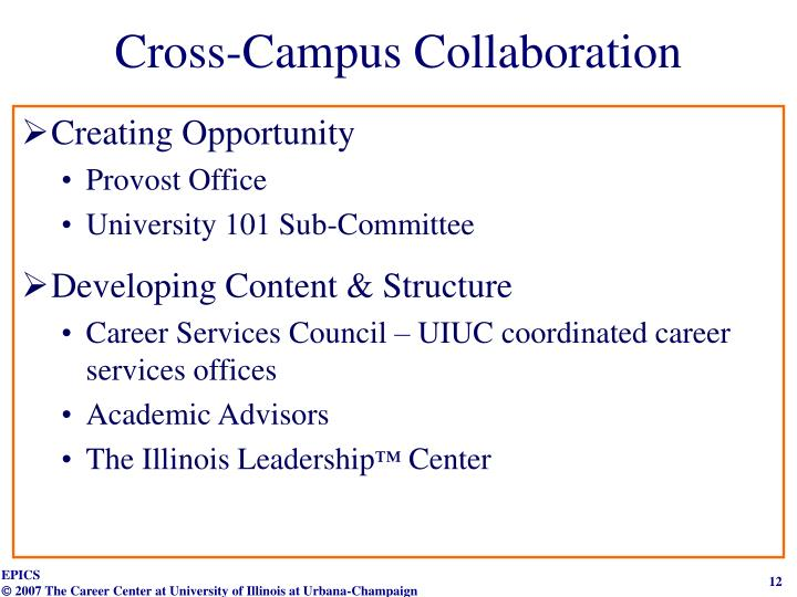 Cross-Campus Collaboration