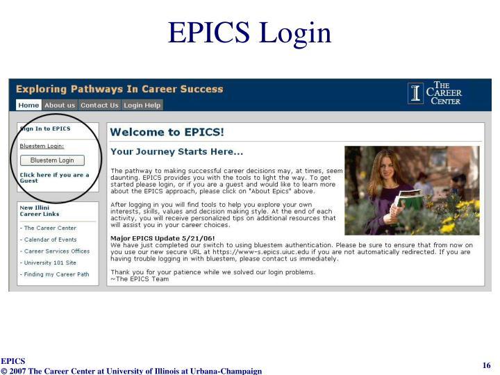 EPICS Login