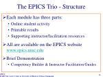 the epics trio structure