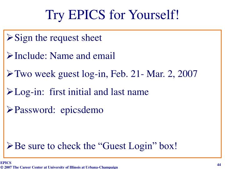 Try EPICS for Yourself!