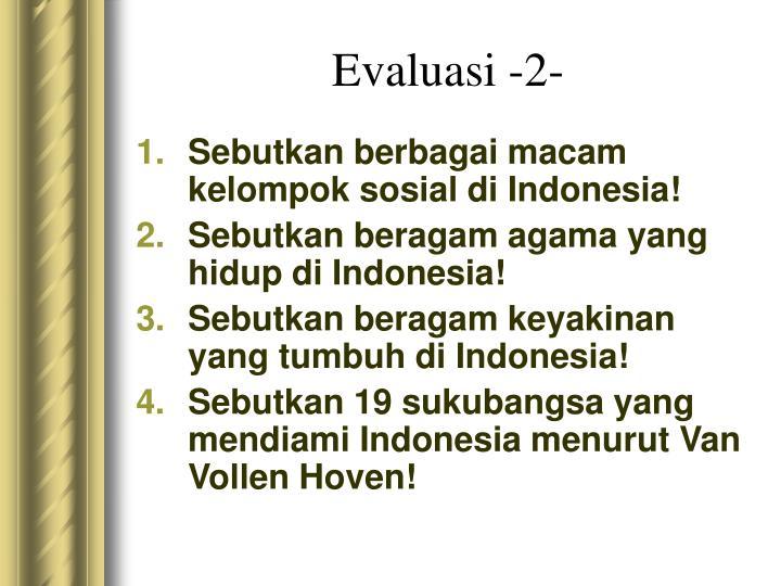 Evaluasi -2-