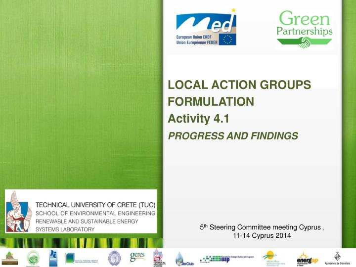LOCAL ACTION GROUPS FORMULATION