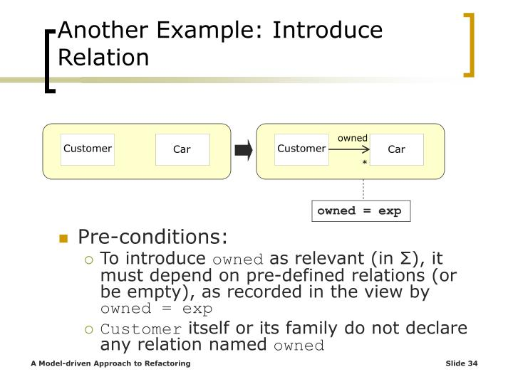 Another Example: Introduce Relation