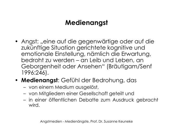Medienangst