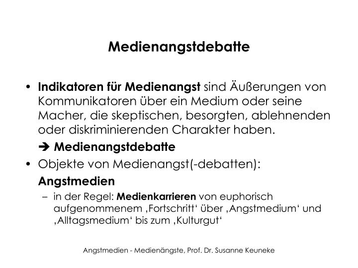 Medienangstdebatte