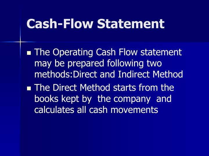 Cash-Flow Statement