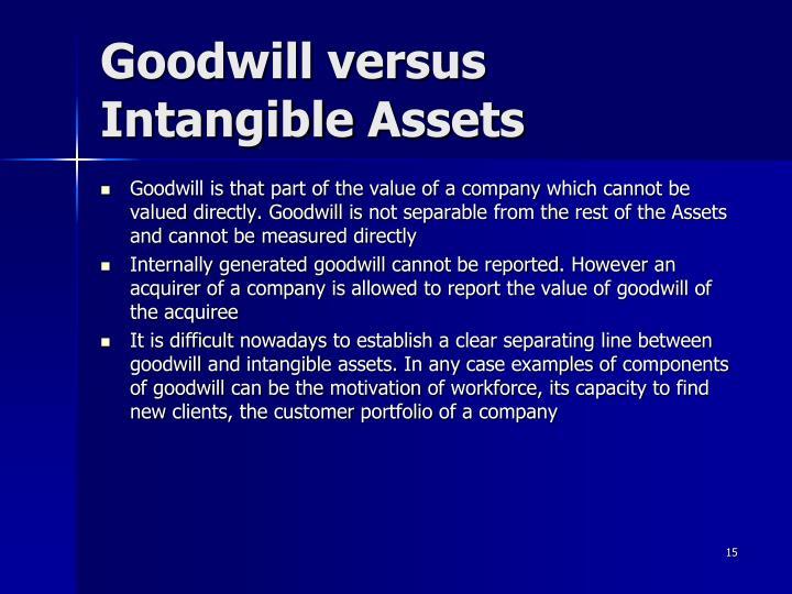 Goodwill versus