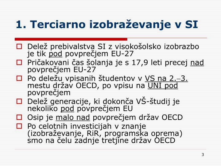 1. Terciarno izobraževanje v SI