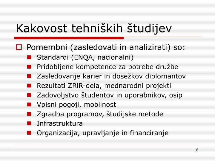 Kakovost tehniških študijev