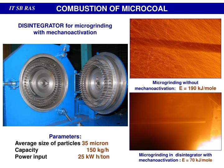COMBUSTION OF MICROCOAL
