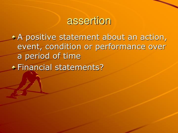 assertion