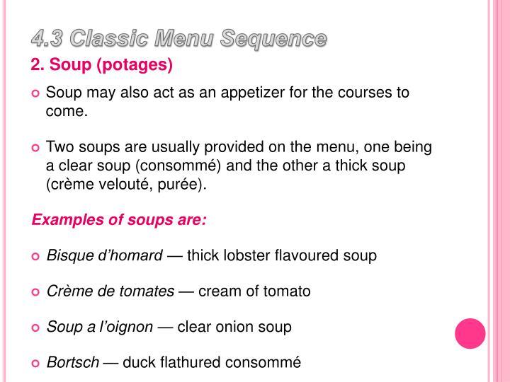 4.3 Classic Menu Sequence