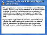 delivery orders with options beyond 2014 con t