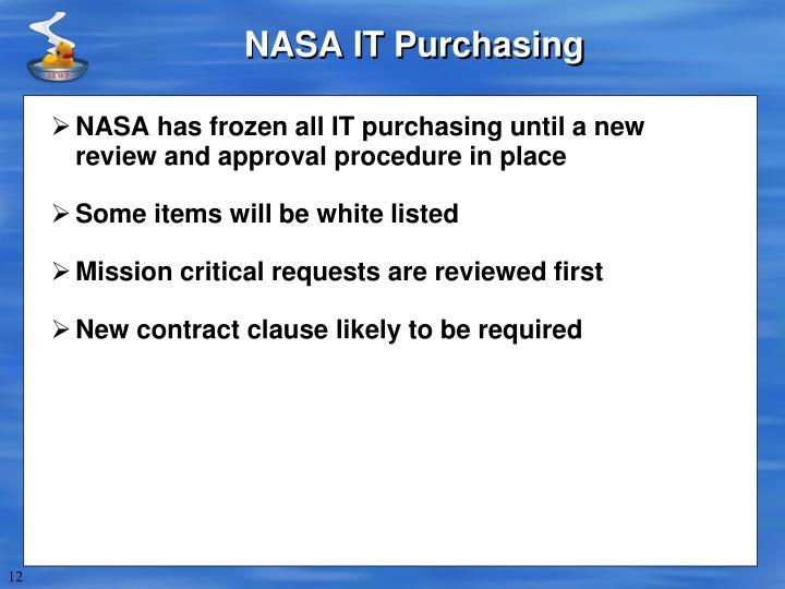 NASA IT Purchasing
