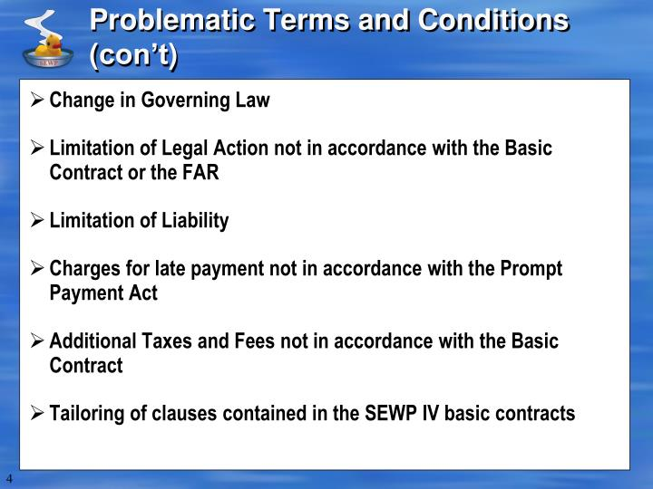 Problematic Terms and Conditions (