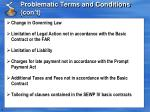 problematic terms and conditions con t