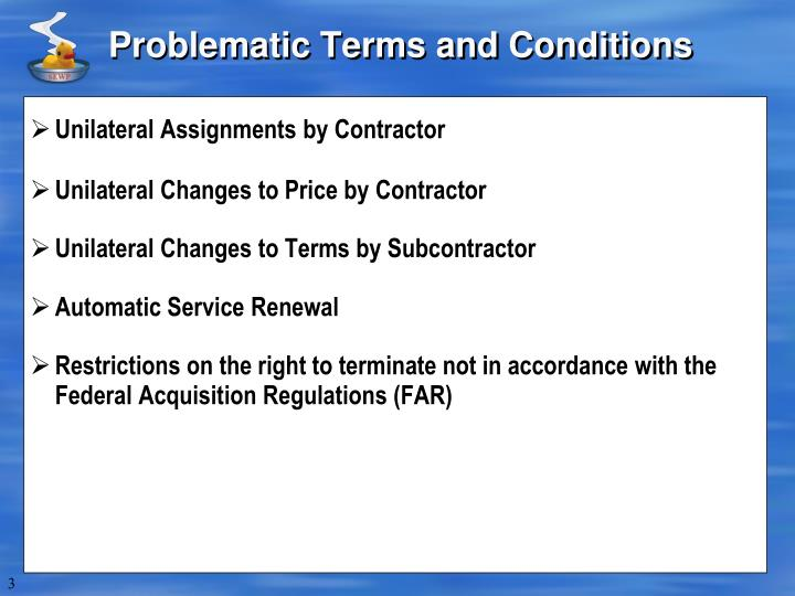 Problematic Terms and Conditions