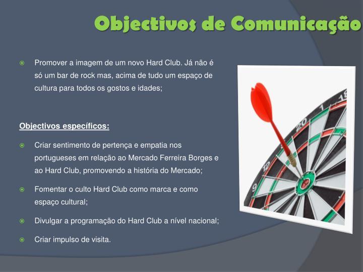 Objectivos de Comunicação