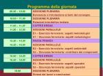 programma della giornata