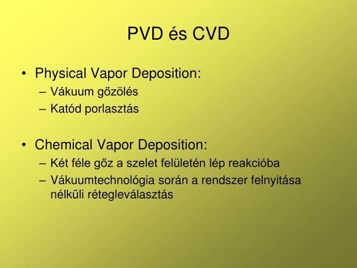 PVD és CVD