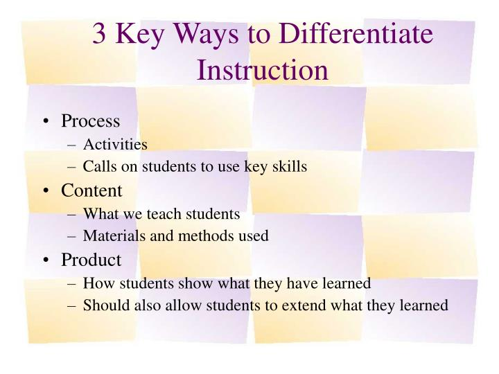 Differentiated Instruction In The Classroom Term Paper