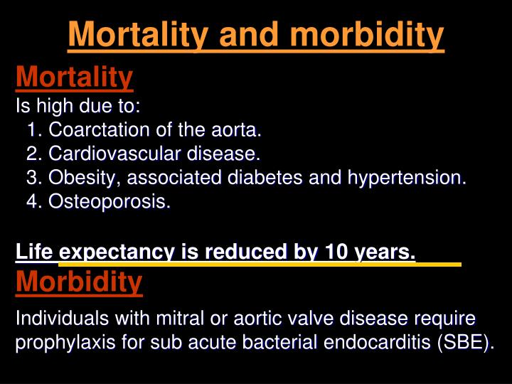 Mortality and morbidity