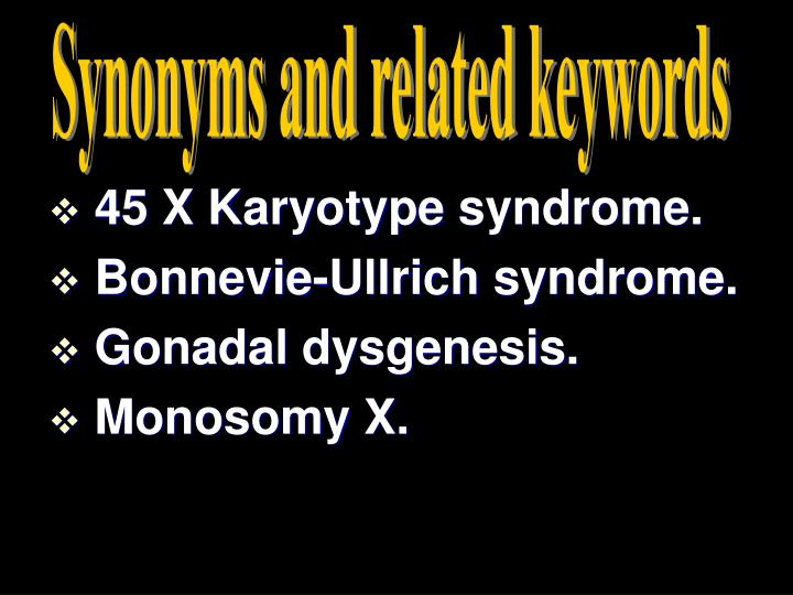 Synonyms and related keywords
