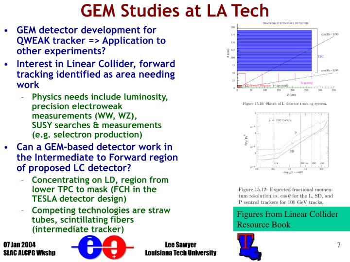 GEM Studies at LA Tech