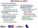 gem work on 2003