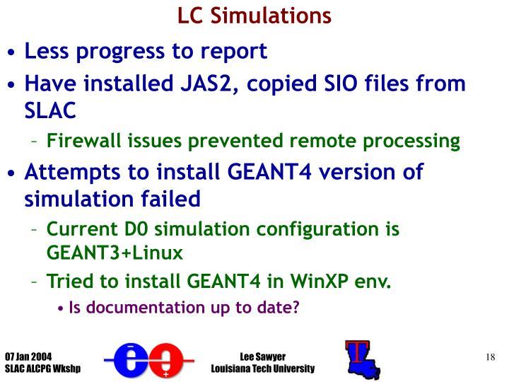 LC Simulations