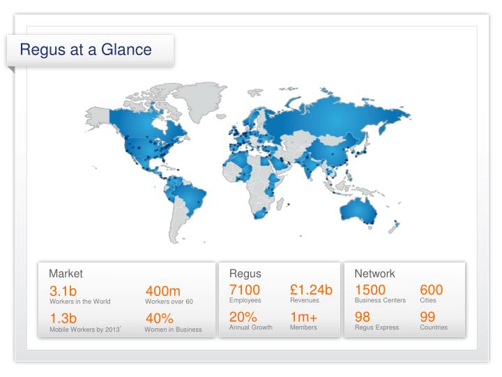 Regus at a Glance