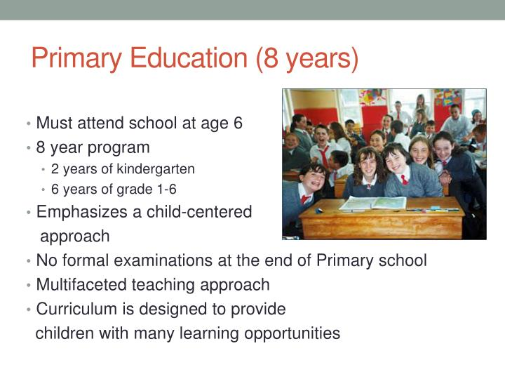 Primary Education (8 years)