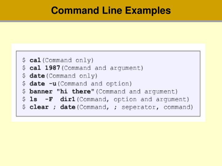 Command Line Examples
