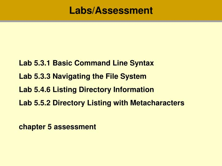 Labs/Assessment
