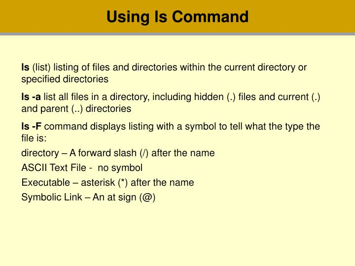 Using ls Command