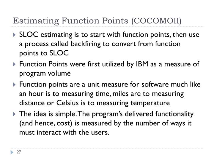 Estimating Function Points