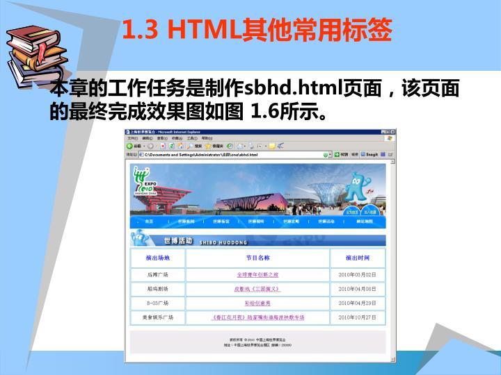 1.3 HTML