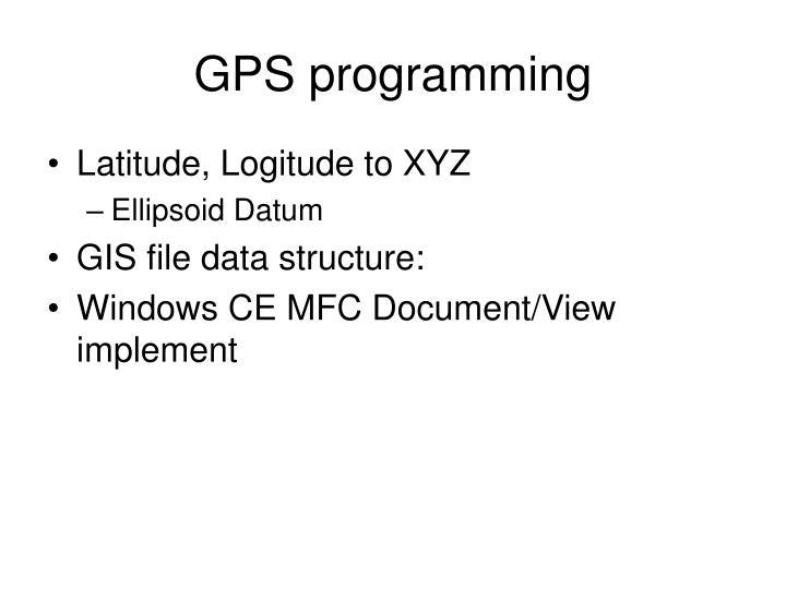 GPS programming