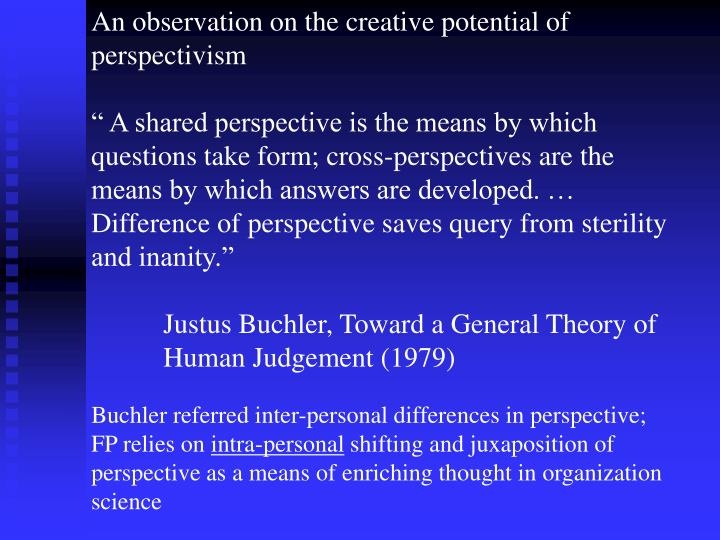 An observation on the creative potential of perspectivism