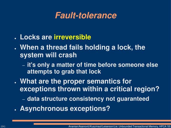Fault-tolerance